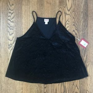 NWT Flowy Velvet Going Out Tank Top